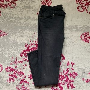 Super skinny low rise washed black HM Jeans sz 20